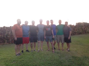 Beautiful Sunset! So thankful for this group of men serving the Lord!!